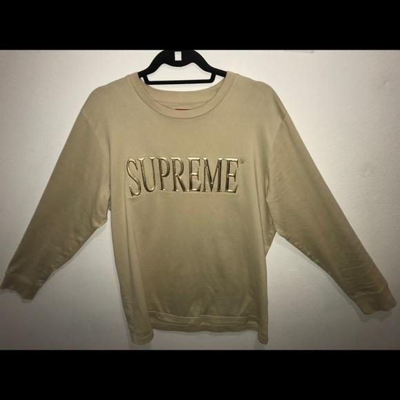 2e1fe5d1075f Supreme Shirts | Gold Embroidered Letter Ls | Poshmark
